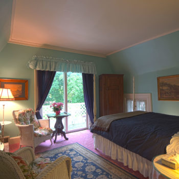 blue room at Eleven Gables Inn and Cottage