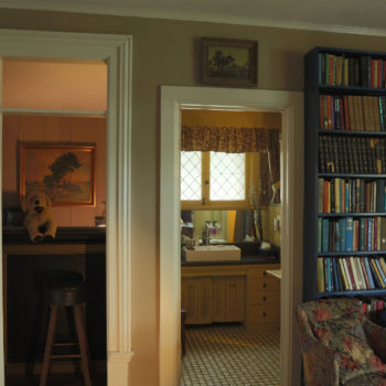 the library with private bath and wet bar
