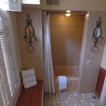 Private bath/shower in sunrise room