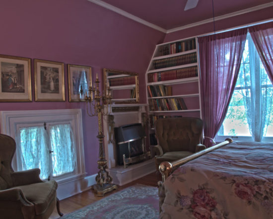 rose room on second floor overlooking the lake