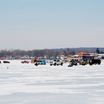 Winter 2008 cars on ice.